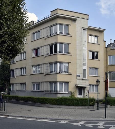 Avenue des Croix du Feu 309, Bruxelles Laeken, élévation principale (photo ARCHistory/APEB © urban.brussels, photo 2018)