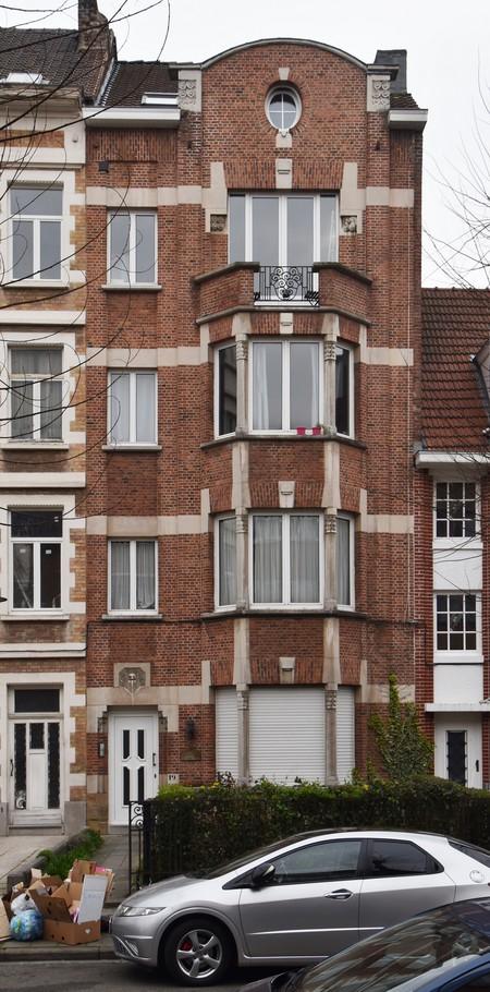 Avenue Richard Neybergh 19, Bruxelles Laeken, élévation principale (photo ARCHistory/APEB © urban.brussels, photo 2017)