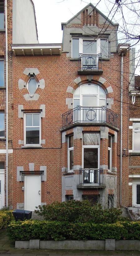 Rue Ernest Salu 73, Bruxelles Laeken, élévation principale (© ARCHistory/APEB, photo 2020)
