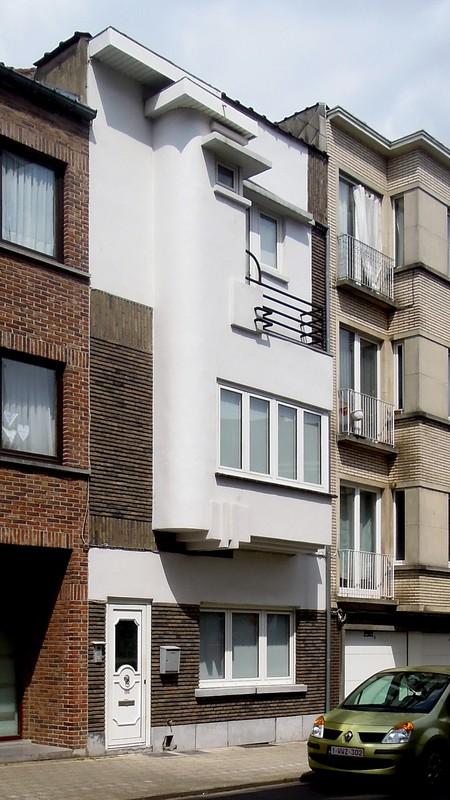 Rue Gustave Gilson 190, Bruxelles Laeken, élévation principale (© C. Dubois, photo 2020)