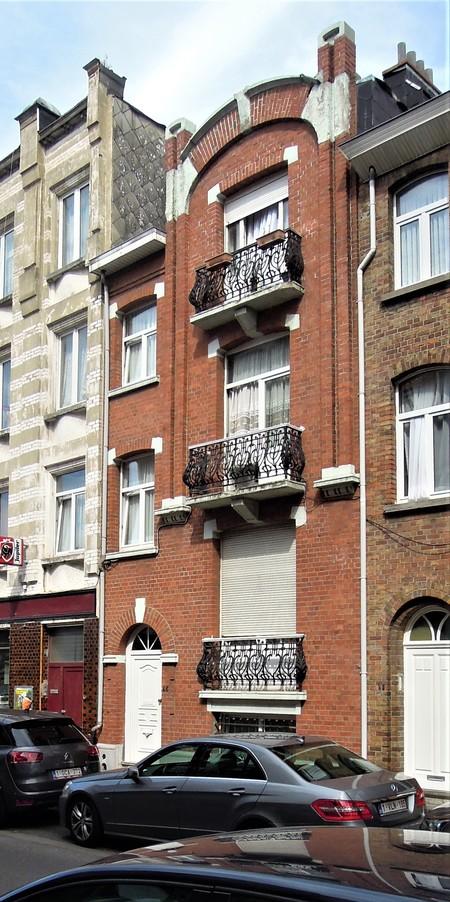 Rue Louis Wittouck 45, Bruxelles Laeken, élévation principale (© C. Dubois, photo 2020)