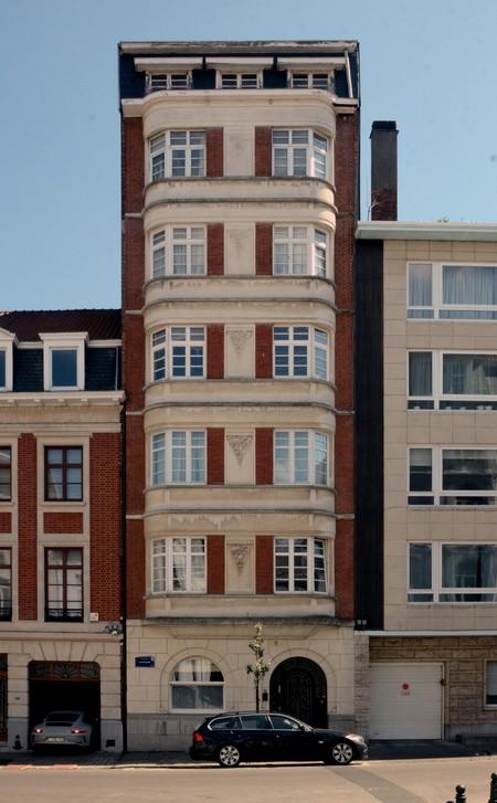 Rue de Praetere 26, Ixelles, élévation principale (© ARCHistory/APEB, photo 2020)