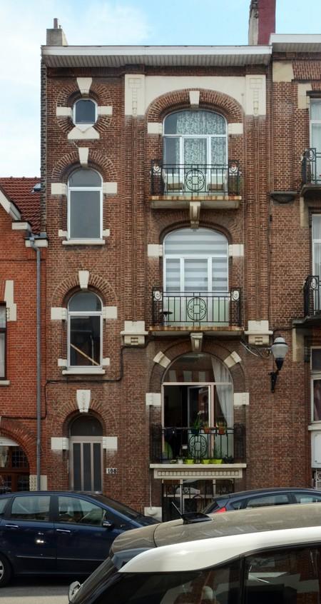 Rue des Augustines 108, Jette, élévation principale (© ARCHistory/APEB, photo 2020)