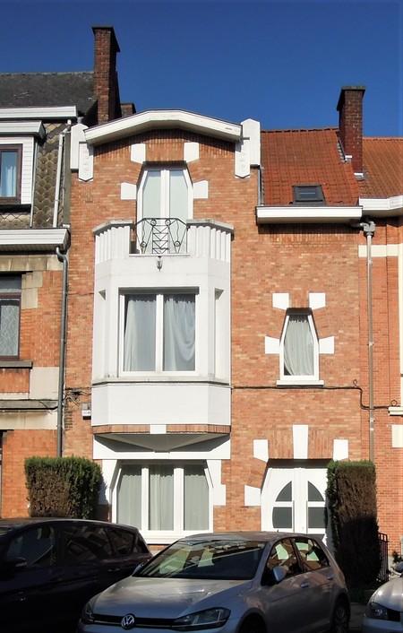 Rue Louis Socquet 53, Schaerbeek, élévation principale (© C. Dubois, photo 2020)