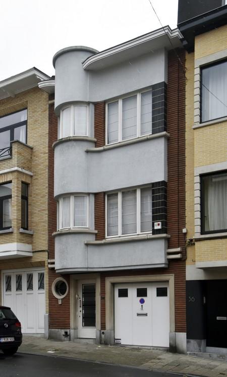 Rue Ernest Gossart 34, Uccle, élévation (© ARCHistory/APEB, photo 2020)