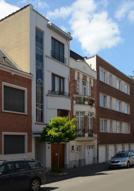 Rue Lincoln 3 et 1, Uccle, élévations principales (© ARCHistory/APEB, photo 2020)