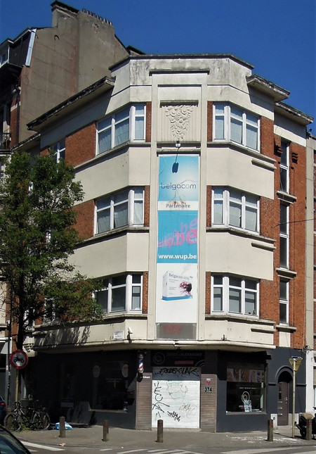 Rue Meyerbeer 163   Chaussée d'Alsemberg 374, Uccle, élévation (© C. Dubois, photo 2020)