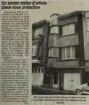 'Un ancien atelier d'artiste placé sous protection', dans Le Vlan, 1er octobre 1998