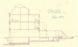 Rue Portaels 42-44, Schaerbeek, coupe de l'installation sanitaire, ACS/Urb. 216/44, 1926