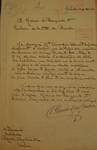 Avenue Prudent Bols 91, Bruxelles Laeken, lettre de demande de la commanditaire (Clémentine Douart des Gadeaux) adressée à la Ville de Bruxelles pour la construction d'une maison, AVB/TP 42866, 1922