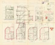 Avenue de l'Émeraude 2A, Schaerbeek, élévations, coupe, plans, ACS/Urb. 75-2a, 1933