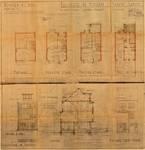 Avenue Coghen 59, Uccle, élévations, coupe, plans, ACU/Urb. 9530, 1936