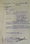 Rue Portaels 42-44, Schaerbeek, lettre de demande du maître d'ouvrage (F. Renwart) à la Commune de Schaerbeek sur papier à en-tête de Louis Tenaerts, ACS/Urb. 216/42, 1926