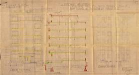 Place Constantin Meunier 21, Forest, élévations, coupe, ACF/Urb. 13029, 1936