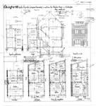 Rue Théodore Baron 24, Auderghem, élévations, coupe, plans, ACAud./Urb. 3443, 1932