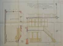Avenue Prudent Bols 91, Bruxelles Laeken, construction d'une annexe, plan et coupe du jardin d'hiver, AVB/TP 542.53, 1925