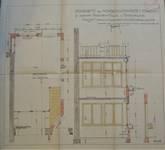 Avenue Prudent Bols 91, Bruxelles Laeken, construction d'une annexe, plan et coupe du bureau de dessin, AVB/TP 542.53, 1925