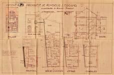 Avenue Mozart 25, Forest, élévations, coupe, plans, ACF/Urb. 11740, 1932