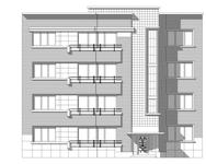 Avenue des Croix du Feu 309, Bruxelles Laeken, dessin de la façade sur base du projet d'origine (© ARCHistory, 2020)
