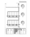 Avenue des Croix du Feu 301, Bruxelles Laeken, dessin de la façade sur base du projet d'origine (© ARCHistory, 2020)