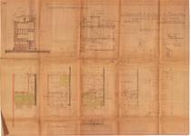 Avenue de la Poésie 14, Anderlecht, élévations, coupe, plans, ACA/Urb. 26888, 1934