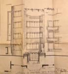 Avenue des Croix du Feu 305, Bruxelles Laeken, élévation principale, AVB/TP 58375, 1939