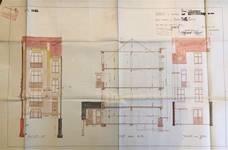 Rue Edmond Tollenaere 113, Bruxelles Laeken, élévations et coupe, AVB/TP 53773, 1923