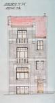 Rue Émile Delva 45, Bruxelles Laeken, élévation principale, AVB/TP 53160, 1927