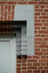 Rue Ernest Salu 73, Bruxelles Laeken, détail de l'entrée (© ARCHistory/APEB, photo 2020)