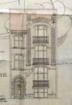 Rue Louis Wittouck 45, Bruxelles Laeken, élévation principale, AVB/TP 49840, 1923