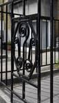 Rue Léopold Ier 365, Jette, détail ferronnerie du jardinet (© ARCHistory/APEB, photo 2020)
