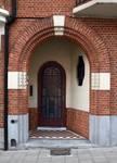 Rue des Augustines 106, Jette, porte d'entrée (© ARCHistory/APEB, photo 2020)
