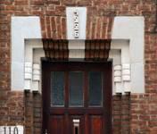 Rue des Augustines 110, Jette, détail de l'entrée (© ARCHistory/APEB, photo 2020)