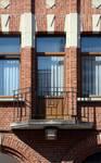 Rue des Augustines 69, Jette, balcon du premier étage (© ARCHistory/APEB, photo 2020)