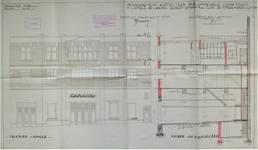 Avenue Émile Zola 96, Schaerbeek, élévation, coupe, ACS/Urb. 79/96, 1929