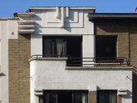 Avenue de l'Émeraude 2A, Schaerbeek, balcon et pignon (© ARCHistory/APEB, photo 2020)