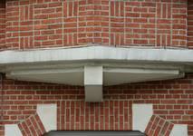 Avenue Léon Mahillon 129, Schaerbeek, détail de la façade (© ARCHistory/APEB, photo 2020)