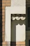 Avenue Milcamps 144, Schaerbeek, détail de la façade (© C. Dubois, photo 2020)