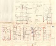 Avenue Milcamps 197, Schaerbeek, élévations, coupe, plans, ACS/Urb. 194/197, 1933
