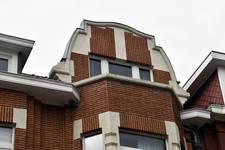 Avenue Coghen 30, Uccle, façade troisème étage (© ARCHistory/APEB, photo 2020)