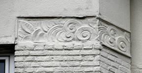 Avenue Coghen 44, Uccle, détail façade (© ARCHistory/APEB, photo 2020)