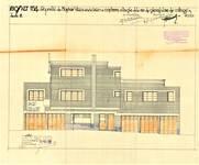 Rue des Cottages 49, Uccle, élévation principale, ACU/Urb. 6585, 1931