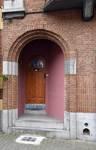 Rue des Cottages 55, Uccle, porte d'entrée (© ARCHistory/APEB, photo 2020)
