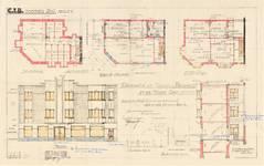 Rue Vanderkindere 45, Uccle, élévation, coupe, plans, ACU/Urb. 7815, 1933