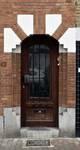 Rue des Glaïeuls 56, Uccle, porte d'entrée (© ARCHistory/APEB, photo 2020)