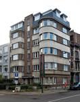 Rue Rouge 1, Uccle, élévation (© C. Dubois, photo 2020)