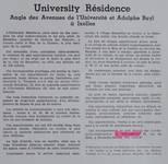 'University Residence. Angle des Avenues de l'Université et Adolphe Buyl à Ixelles', dans L'activité architecturale en Belgique. Journal du bâtiment et des Travaux publics, 16 octobre 1938 (© CIVA)
