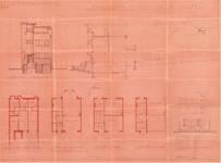 Avenue Coghen 28, Uccle, élévations, coupe, plans (Collection privée)