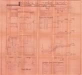 Avenue Coghen 28, Uccle, élévation, coupe, plans (Collection privée)