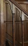 Place de la Grotte 5, Jette, détail de l'escalier de la salle à manger (© ARCHistory/APEB, photo 2020)